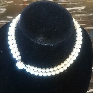 Vintage Cream Pearl Double Strand Necklace